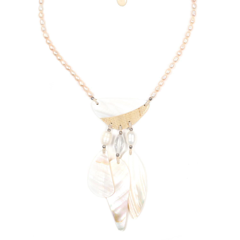 EL NIDO collier perles & pampilles