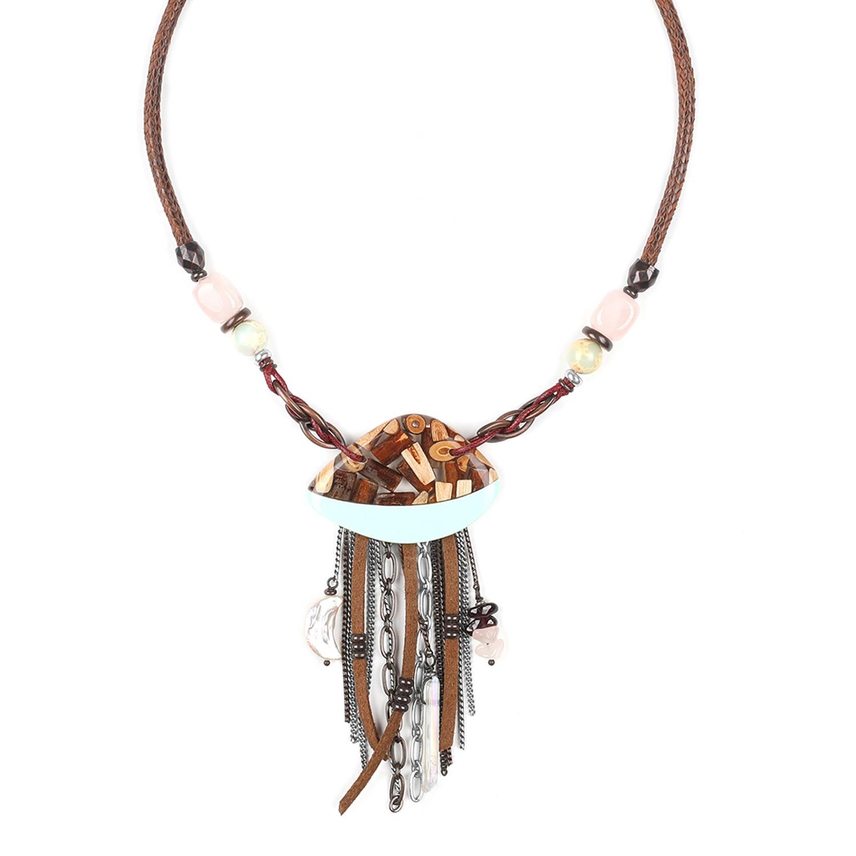 HOCUS POCUS Collar medallón liana en resina