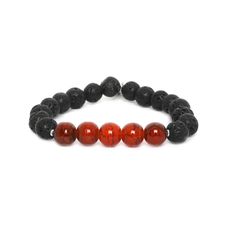 LAVA bracelet homme extensible orange