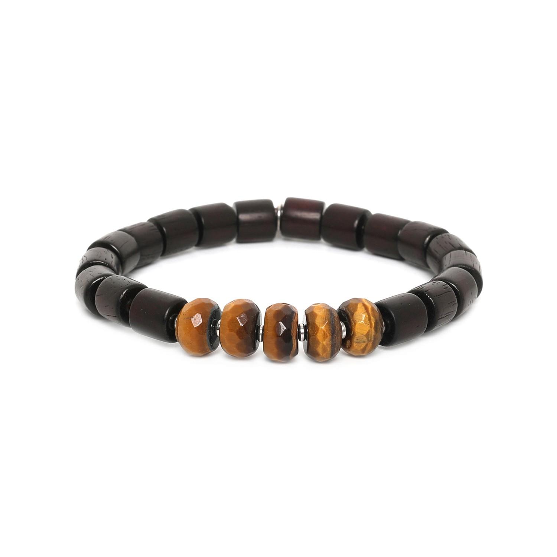 SANTAL bracelet homme extensible oeil de tigre