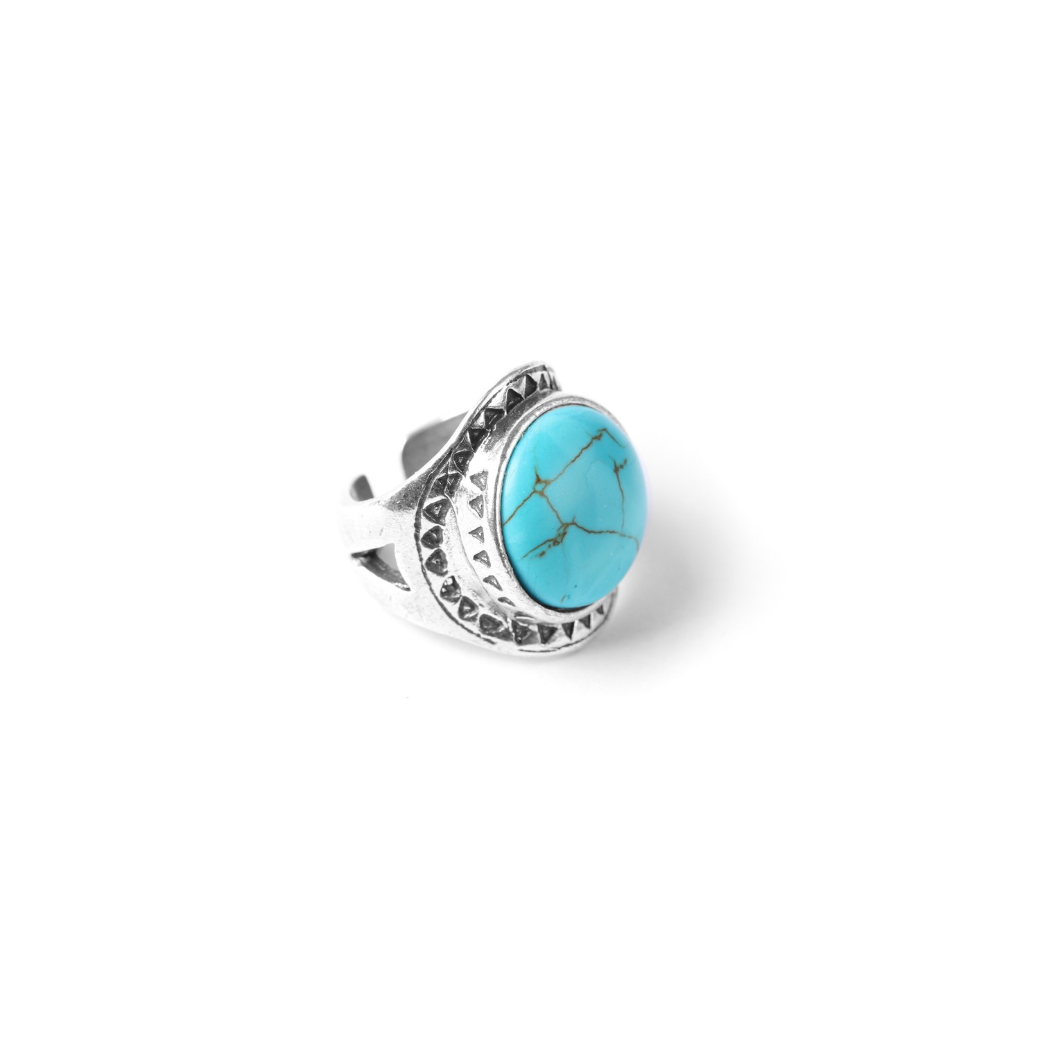 LES CHEVALIERES bague howlite turquoise