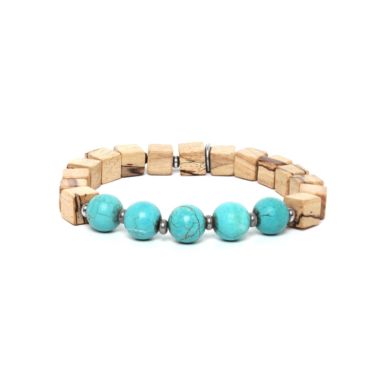 CUBES bracelet homme howlite turquoise