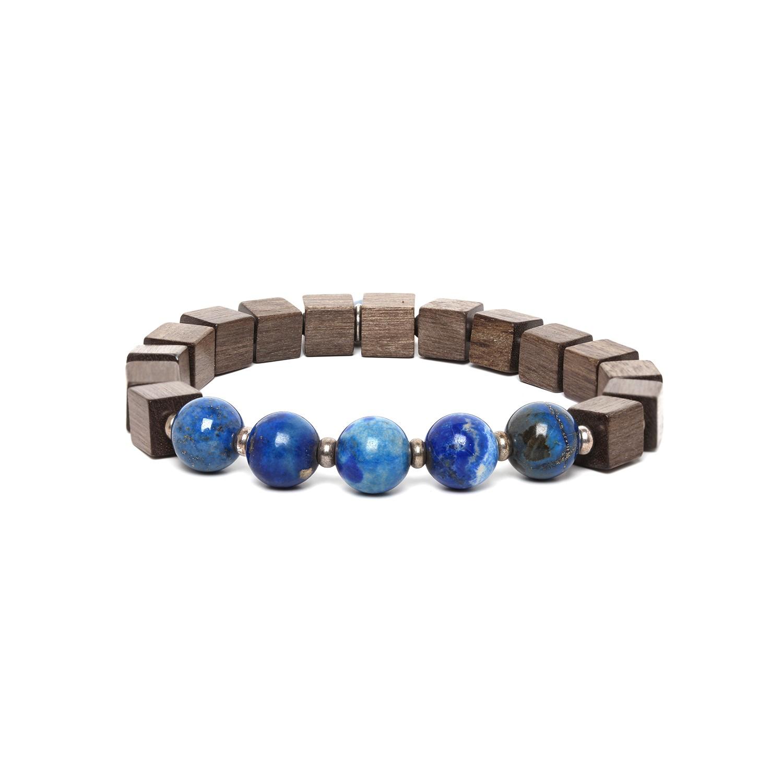 CUBES bracelet homme lapis