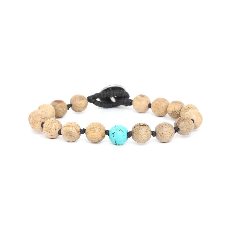 BOUTON bracelet homme turquoise