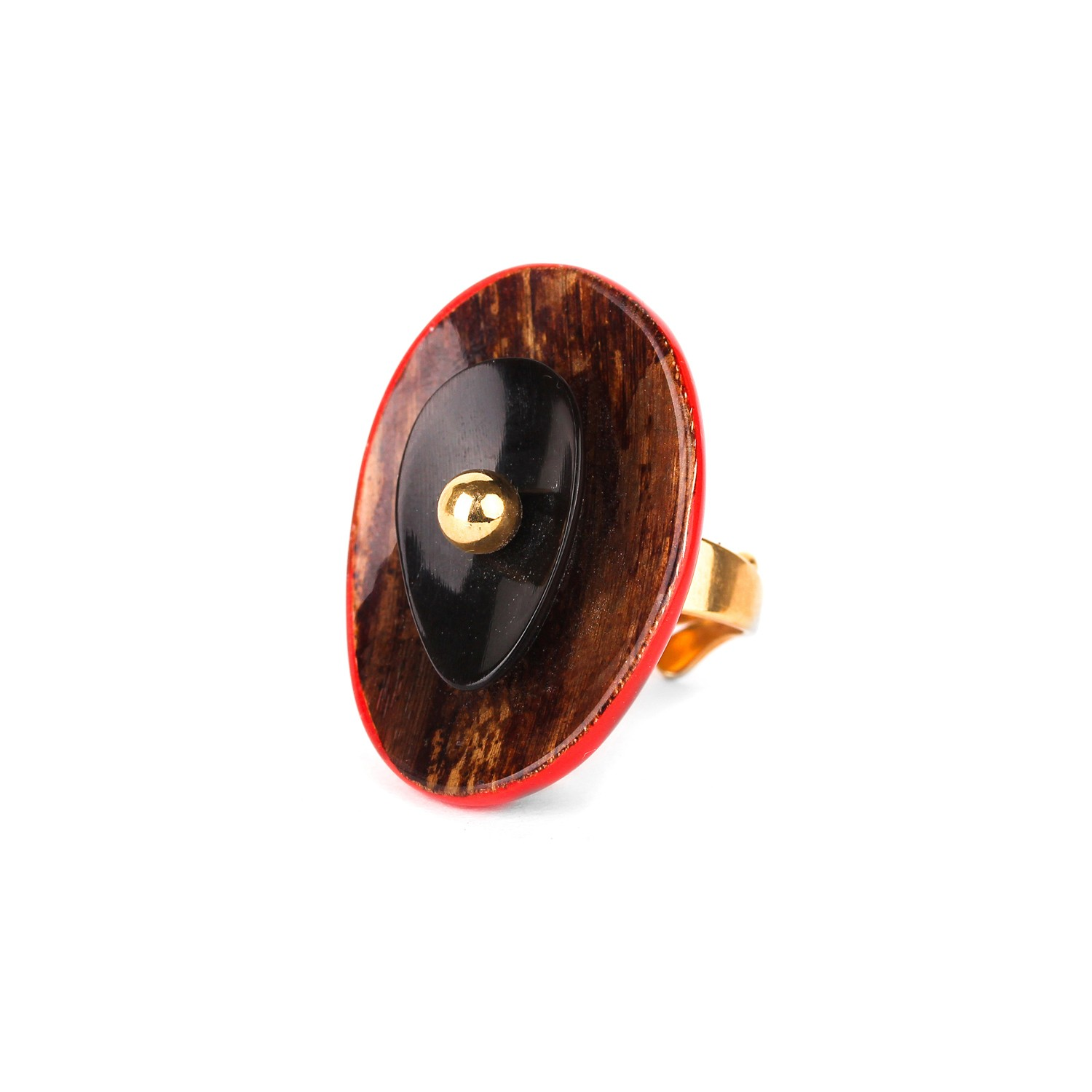 MARIE GALANTE ring w/horn element
