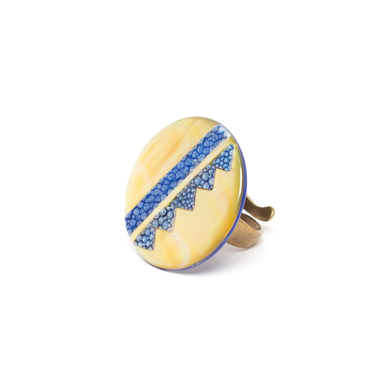 BLUE TRIBE big round ring