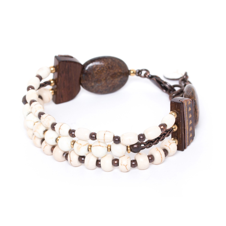 SAOURA bracelet 3 rangs