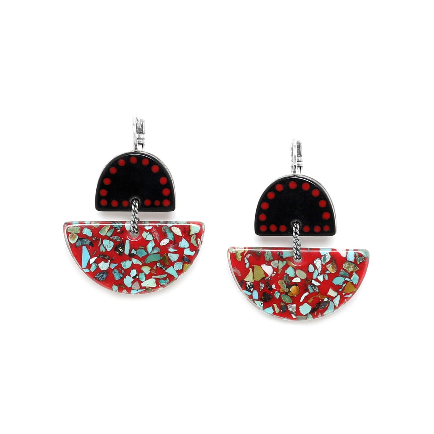SAGARMATHA half moon hook earrings