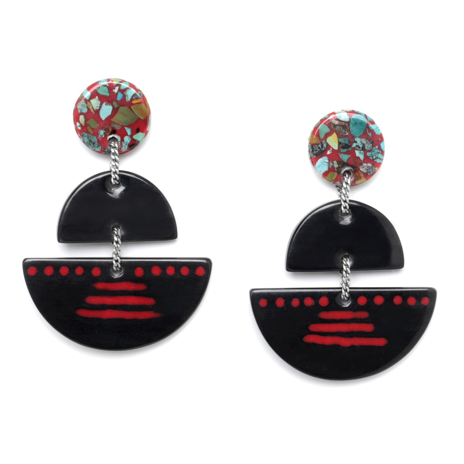 SAGARMATHA 3 pc earrings