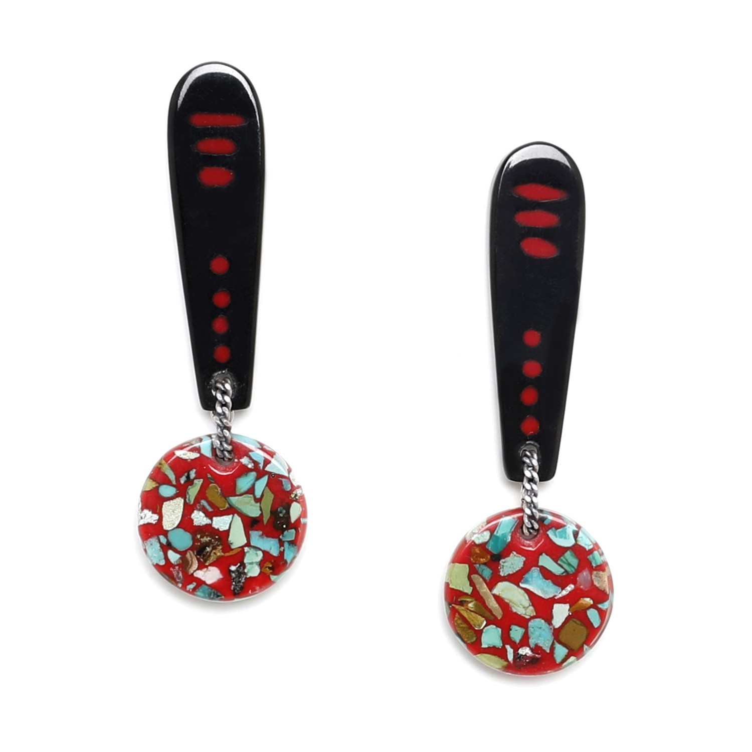 SAGARMATHA disc on stick earrings
