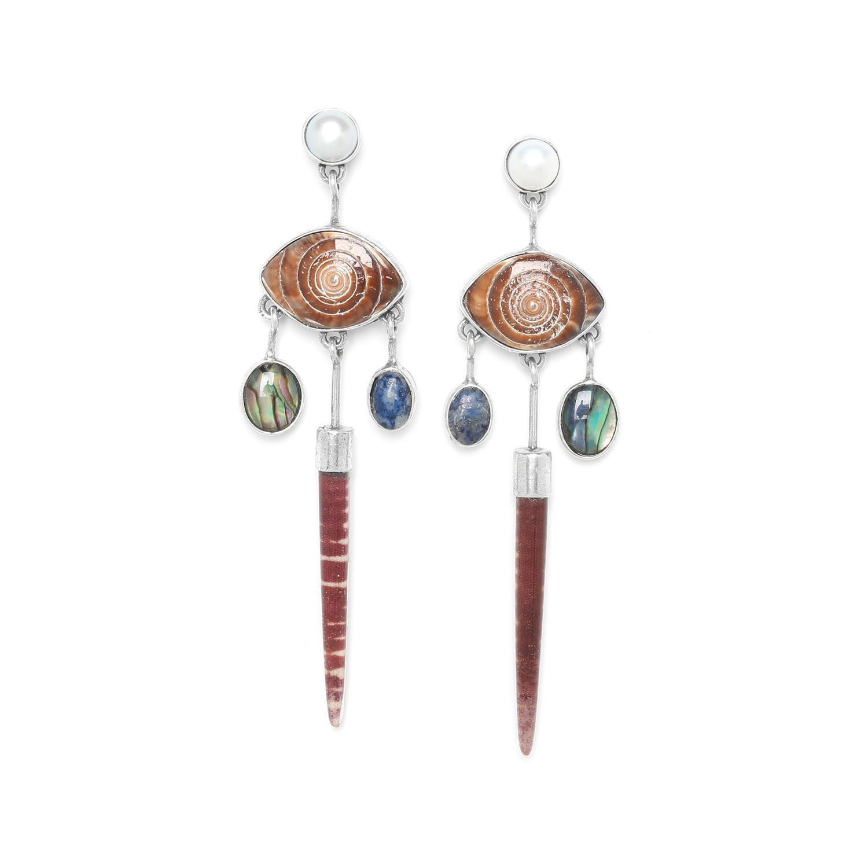 TRESORS boucles d'oreilles 5 éléments top perle
