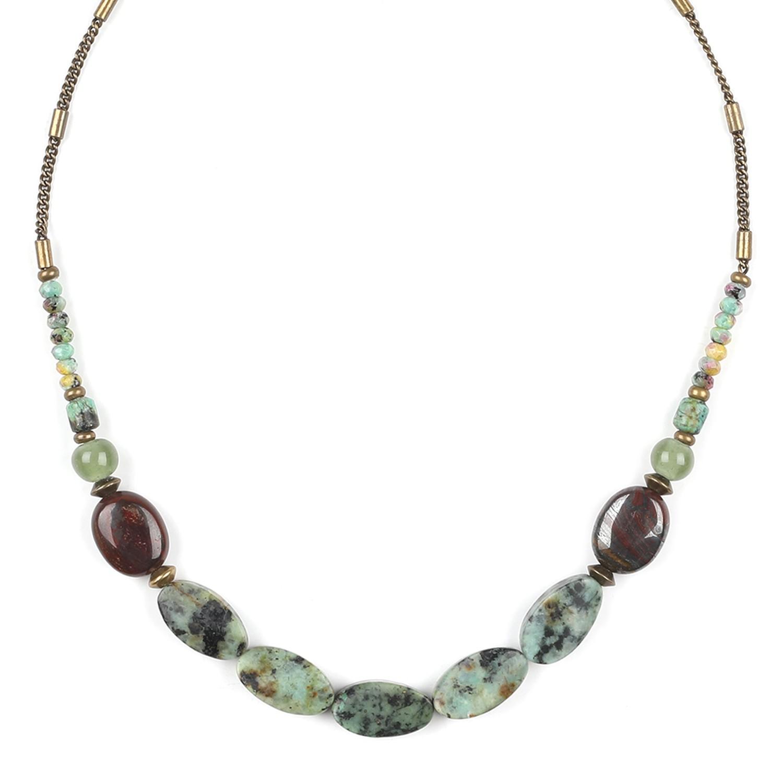 TARAWERA Collar turquesas ovaladas