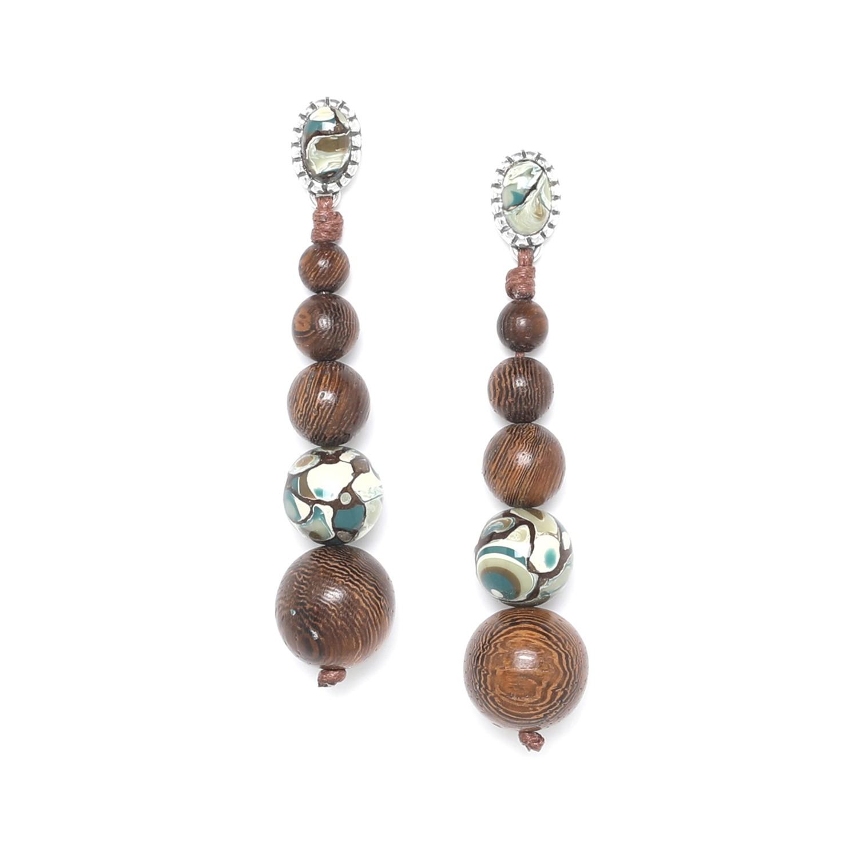 GREENWAY boucles d'oreilles dégradé de perles
