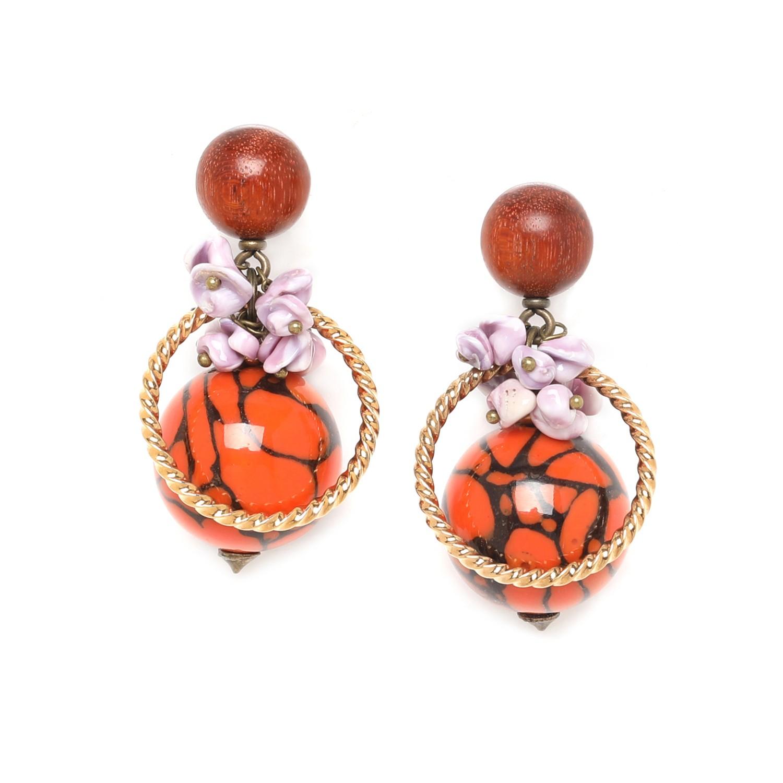 MELTING POT boucles d'oreilles anneau sur perle