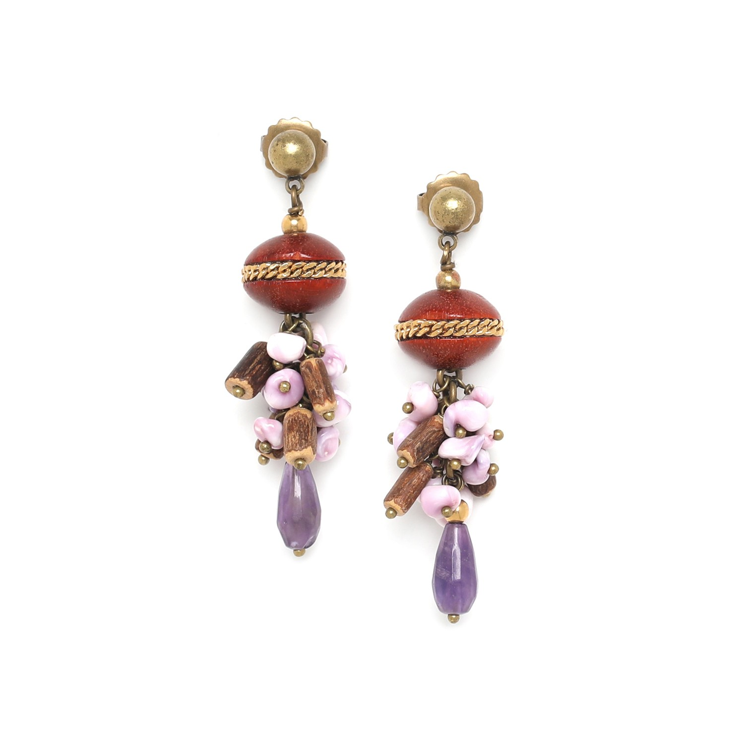 MELTING POT grape earrings
