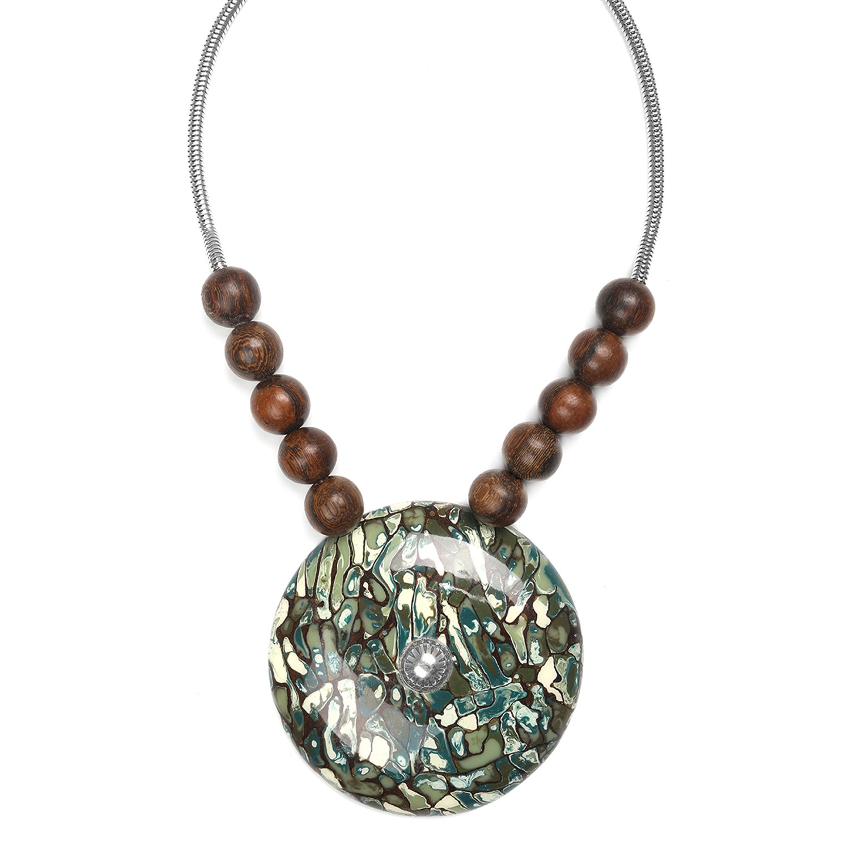 GREENWAY collier gros pendentif