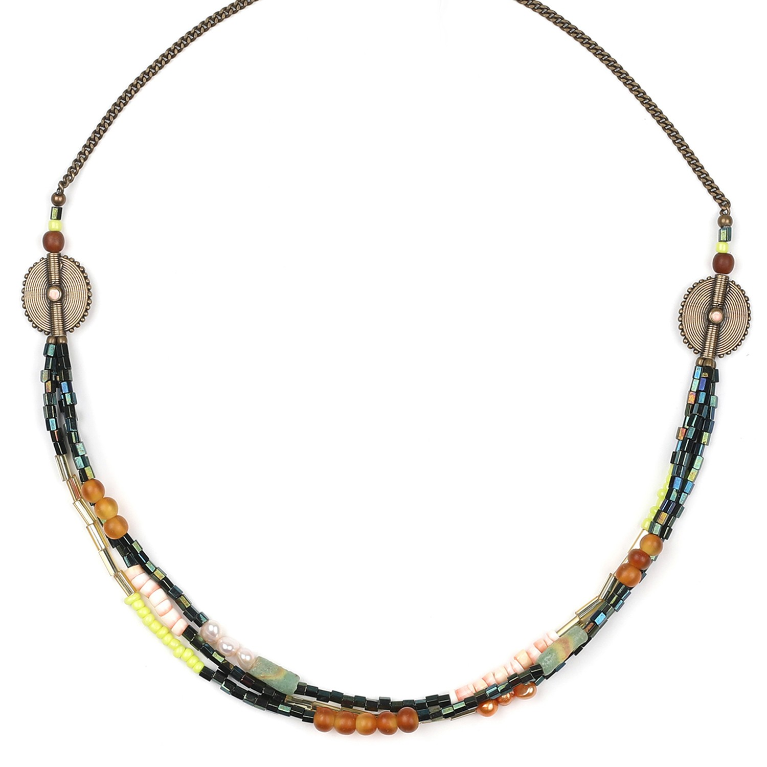 KUMASI collier 3 rangs