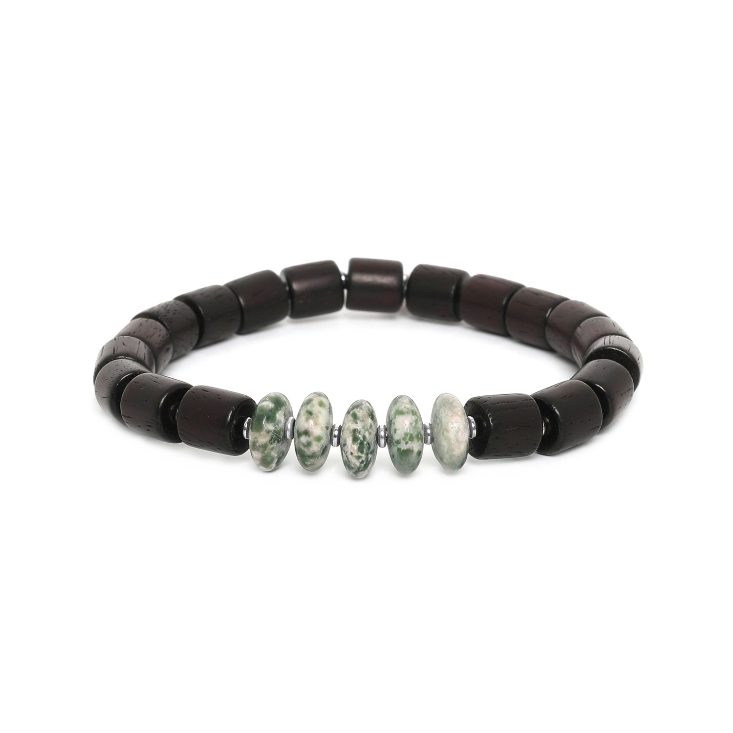 SANTAL moss agate men bracelet