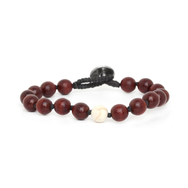 BOUTON white howlite men bracelet