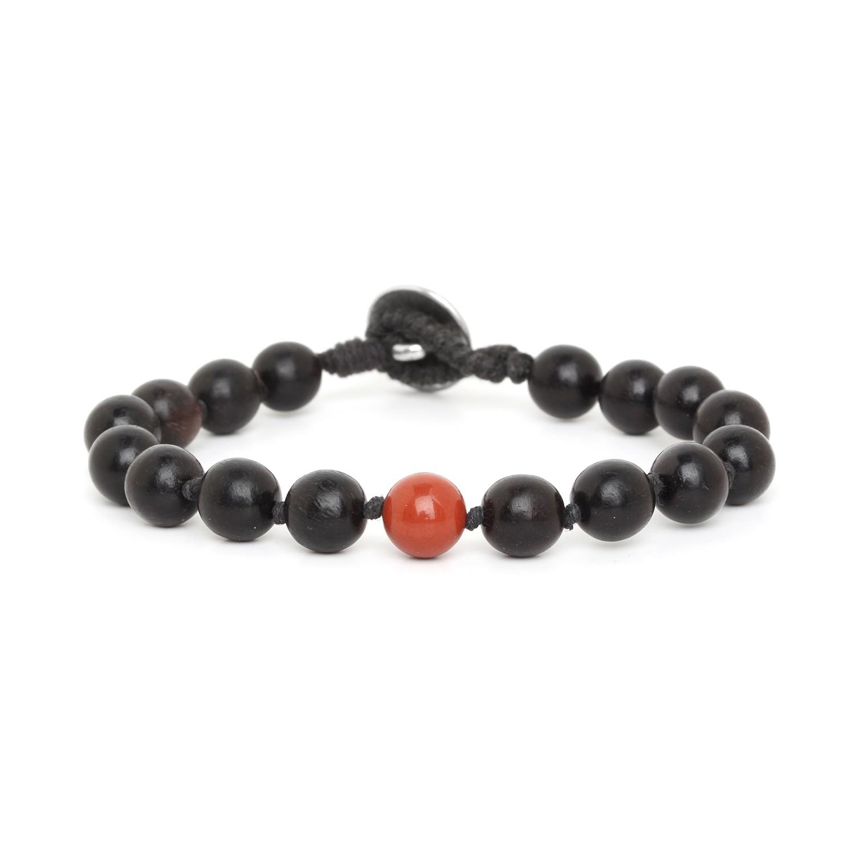 BOUTON red jasper men bracelet