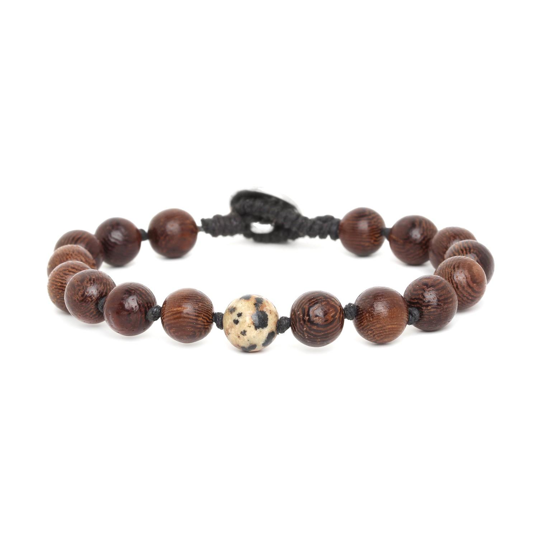 BOUTON bracelet homme jaspe dalmatien