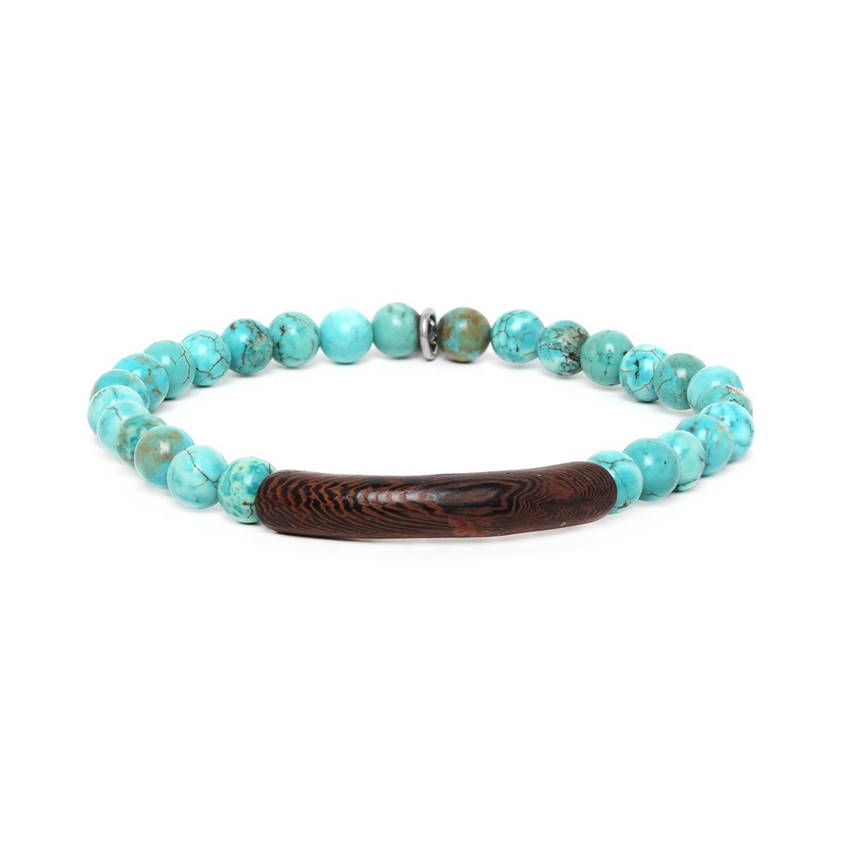 TUBE turquoise howlite stretch men bracelet