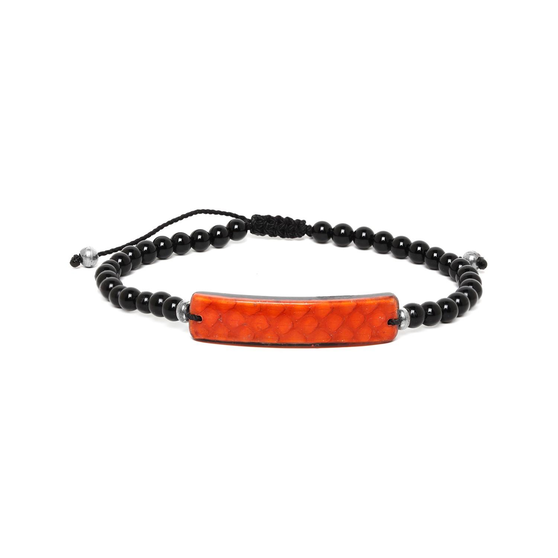 SERPENT bracelet homme orange
