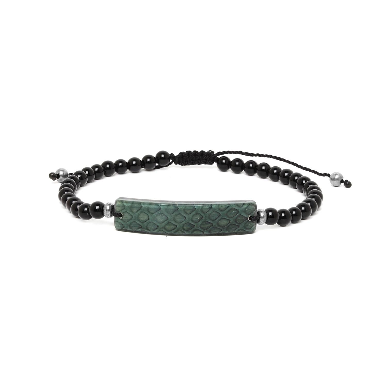 SERPENT bracelet homme vert