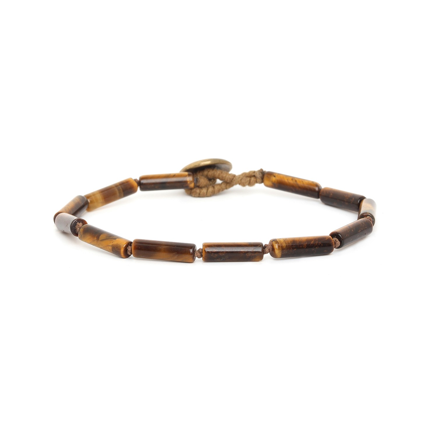 TIGER EYE tubes men bracelet