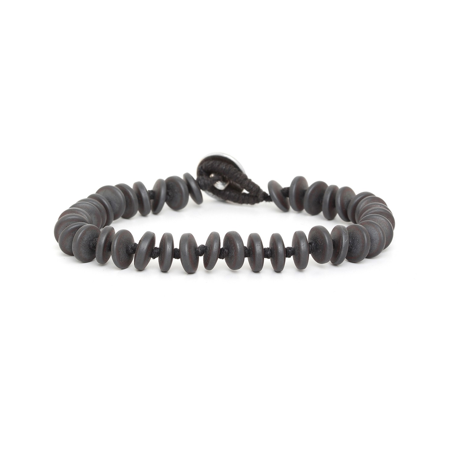 HEMATITE large wheels men bracelet