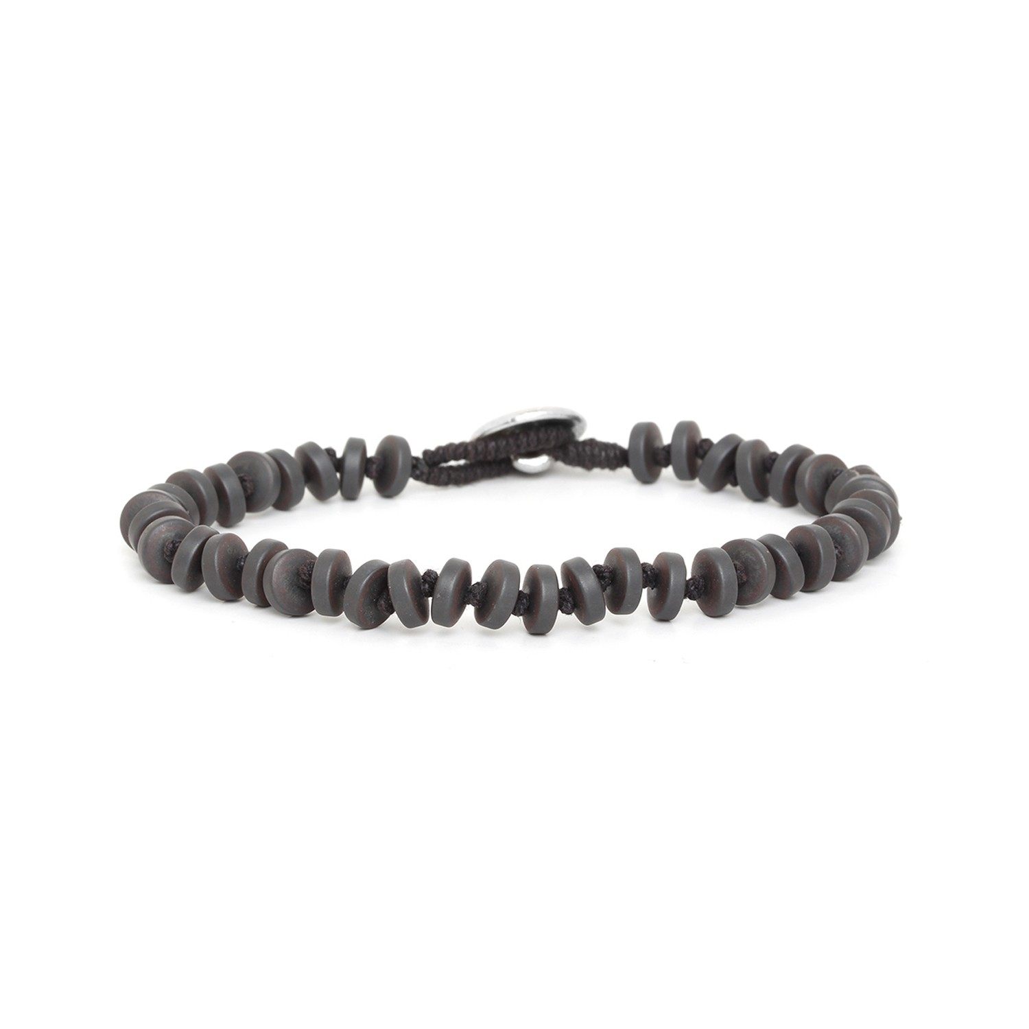 HEMATITE small wheels men bracelet