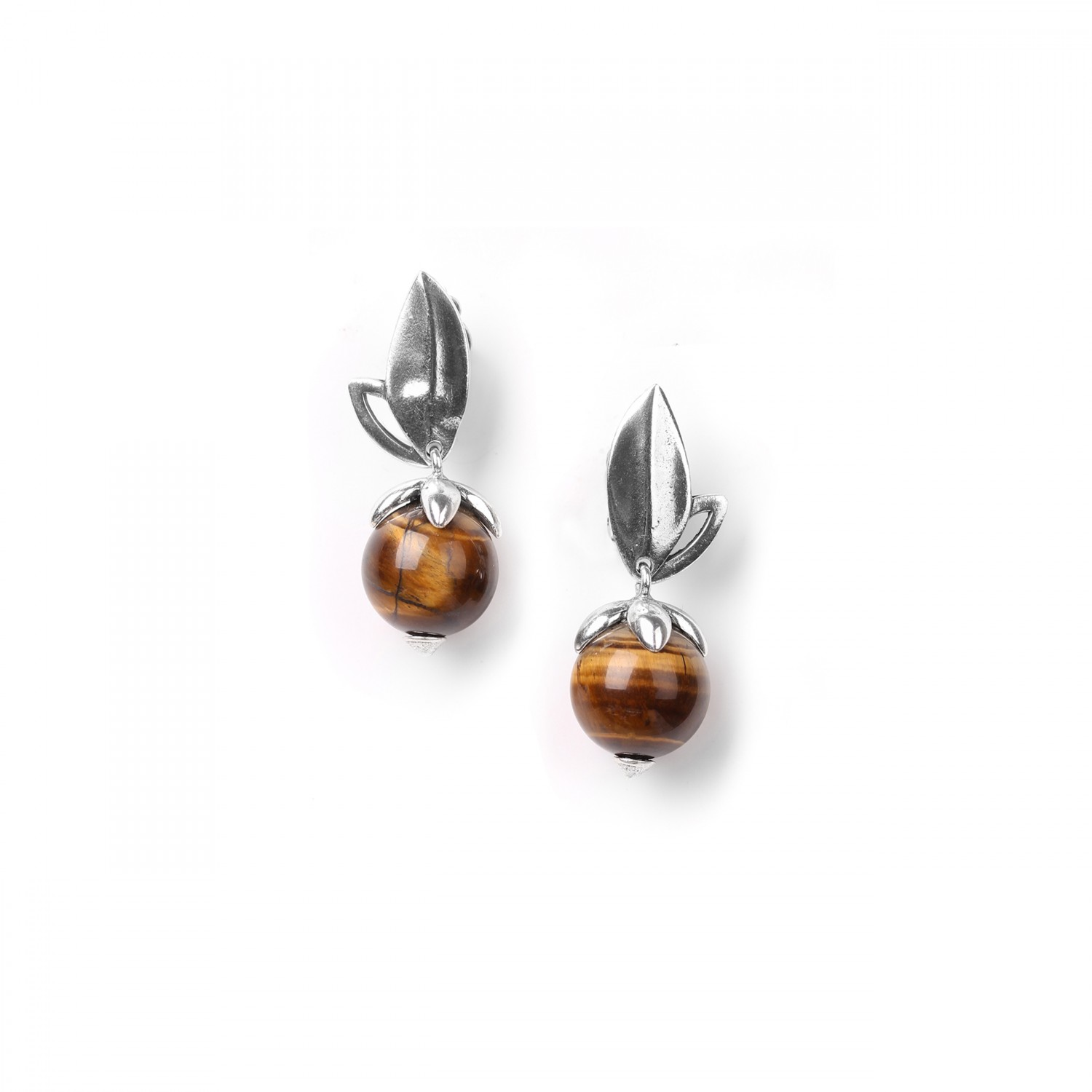 LES FRUITS tiger eye clips