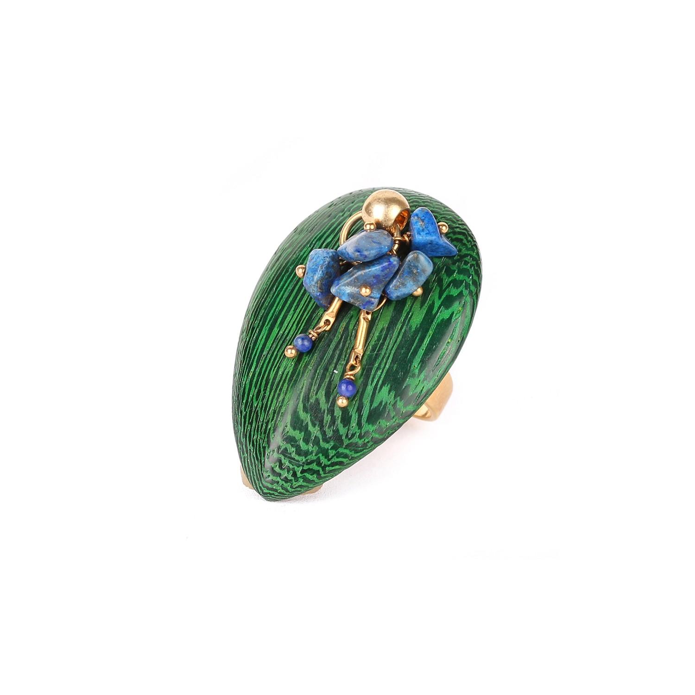 AGAPANTHE lapis-lazuli ring
