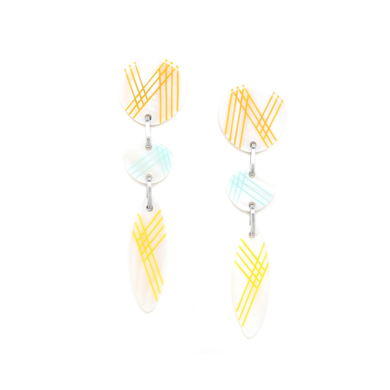 PAMPELONNE 3 pc long earrings
