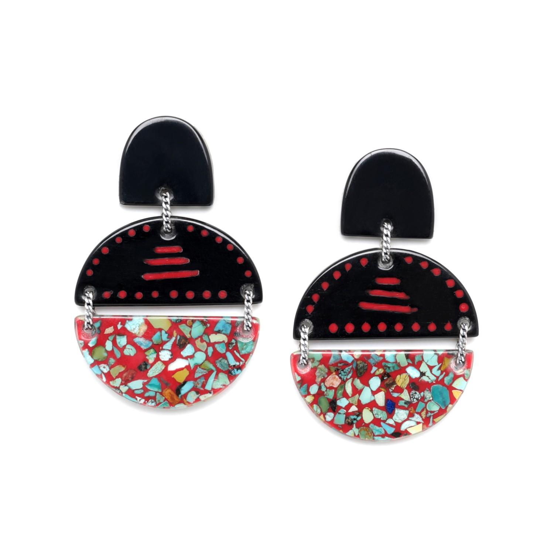 SAGARMATHA 2 half moon earrings