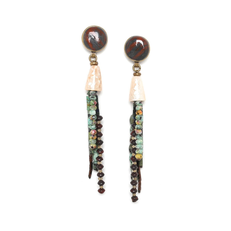 TARAWERA big tassel earrings