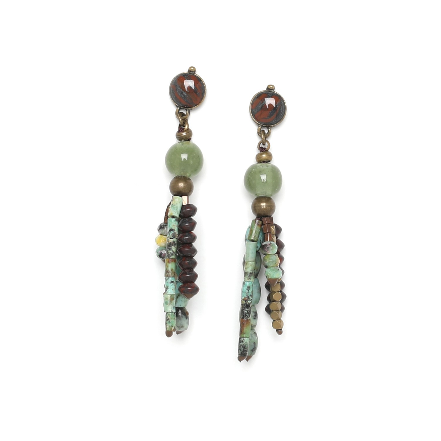 TARAWERA small tassel post earrings