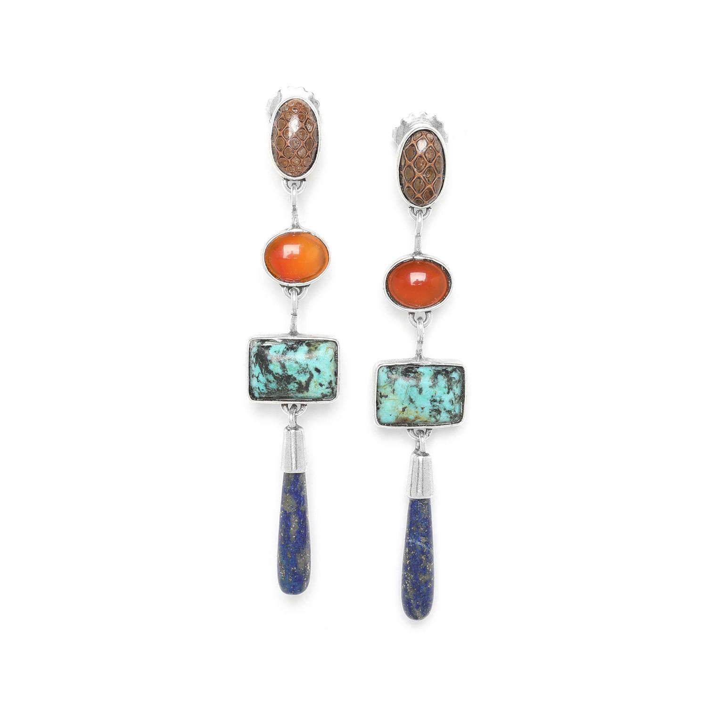 TRESORS Pendiente gota lapis lazuli