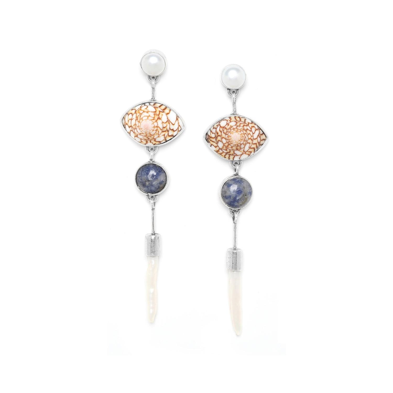 TRESORS boucles d'oreilles biwa top perle