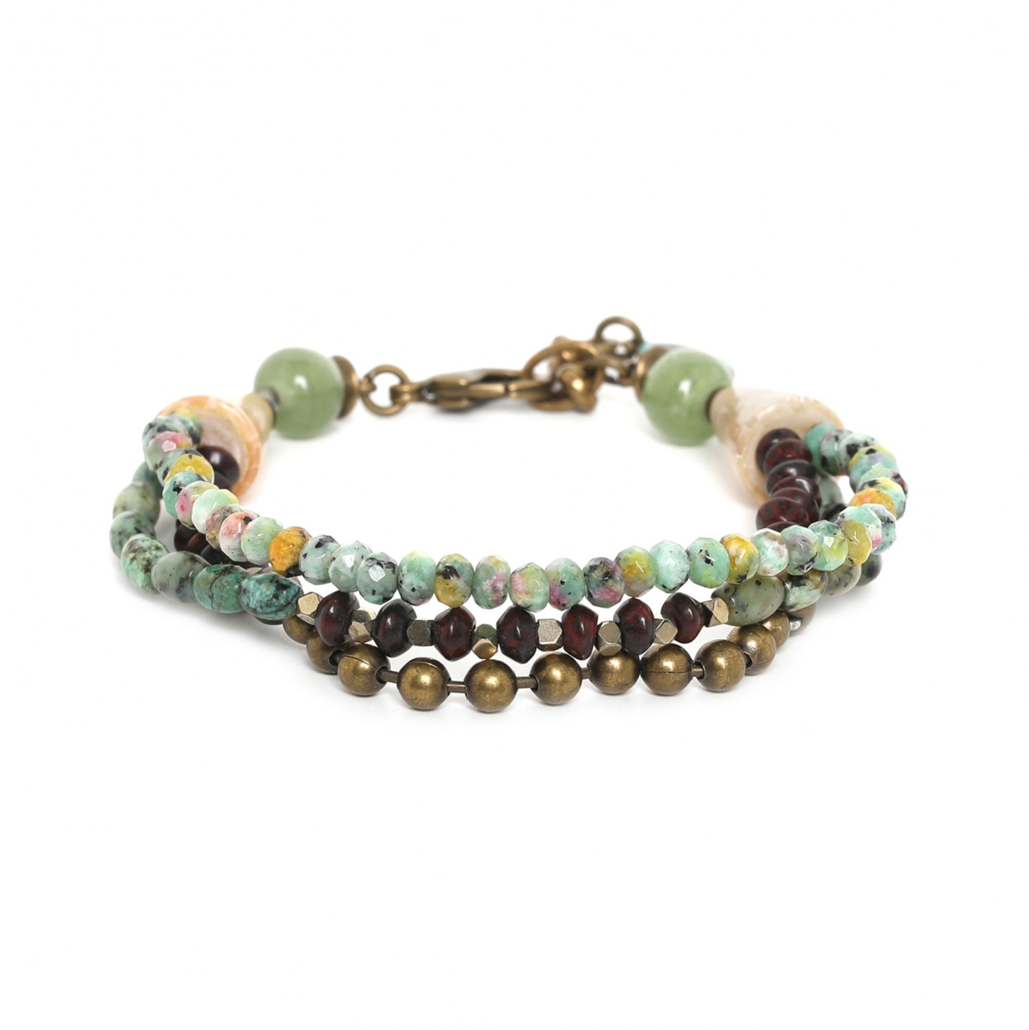 TARAWERA 3 row in cone bracelet