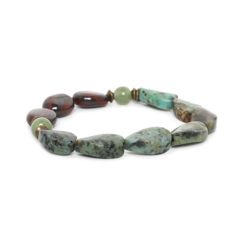 TARAWERA bracelet extensible perles twistées