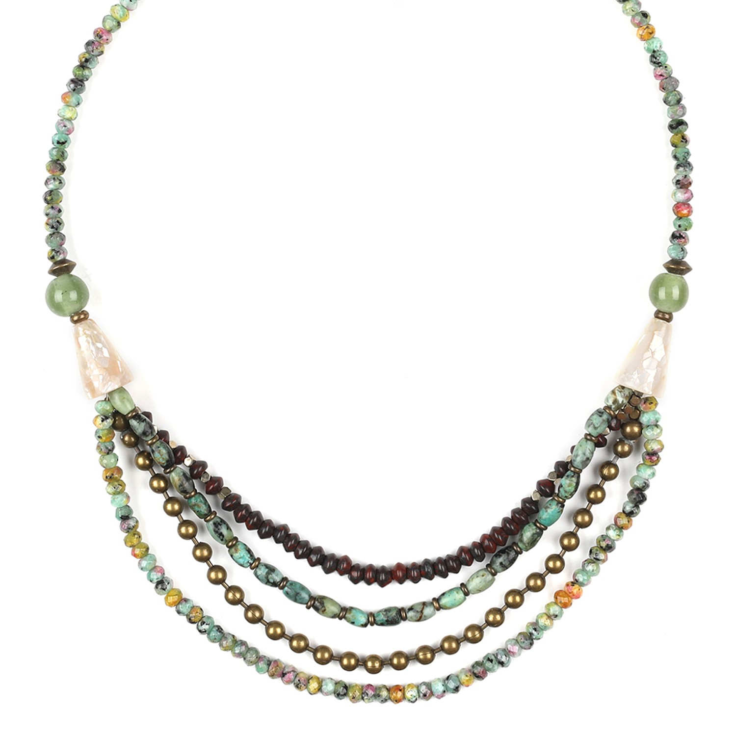 TARAWERA 4 thin row necklace