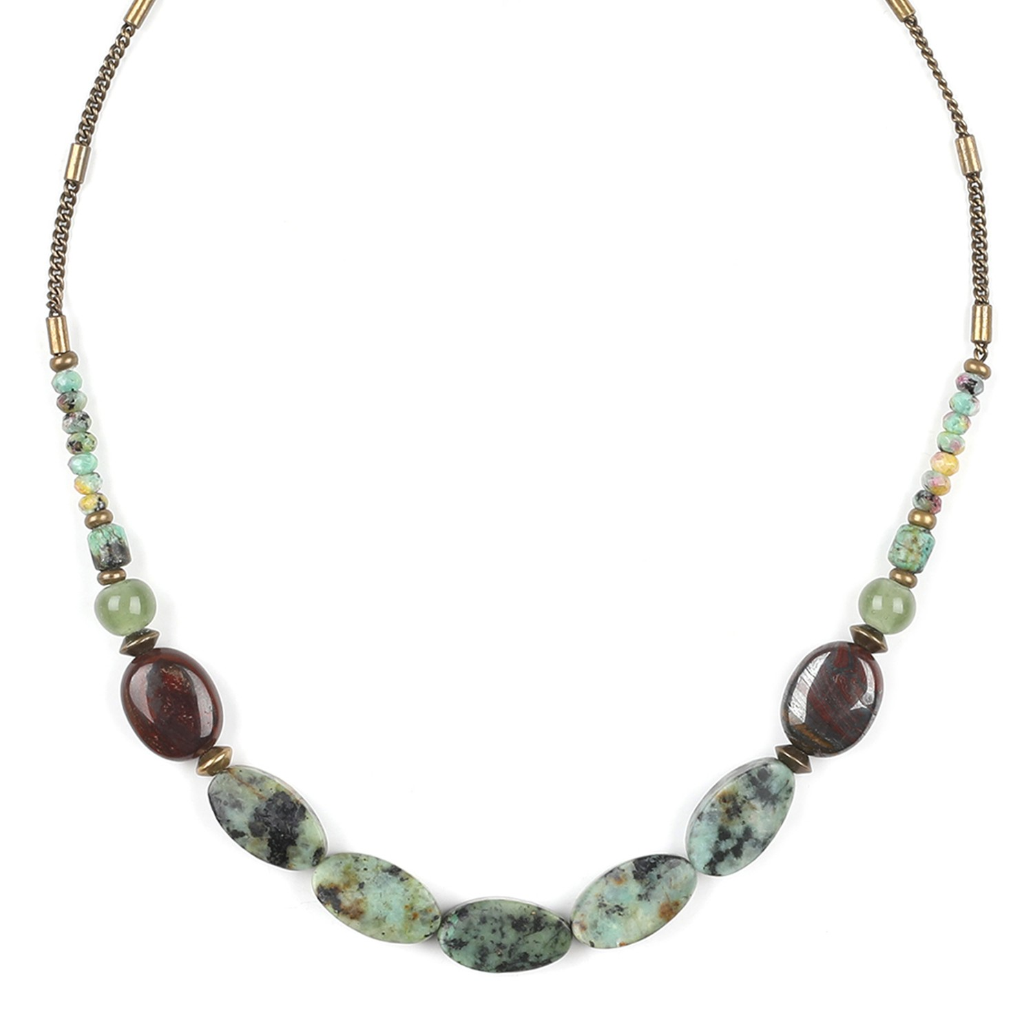 TARAWERA  twisted turquoise bead necklace