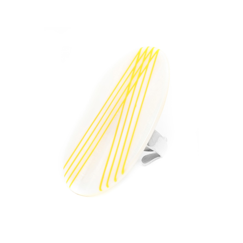 PAMPELONNE Anillo ajustable amarillo