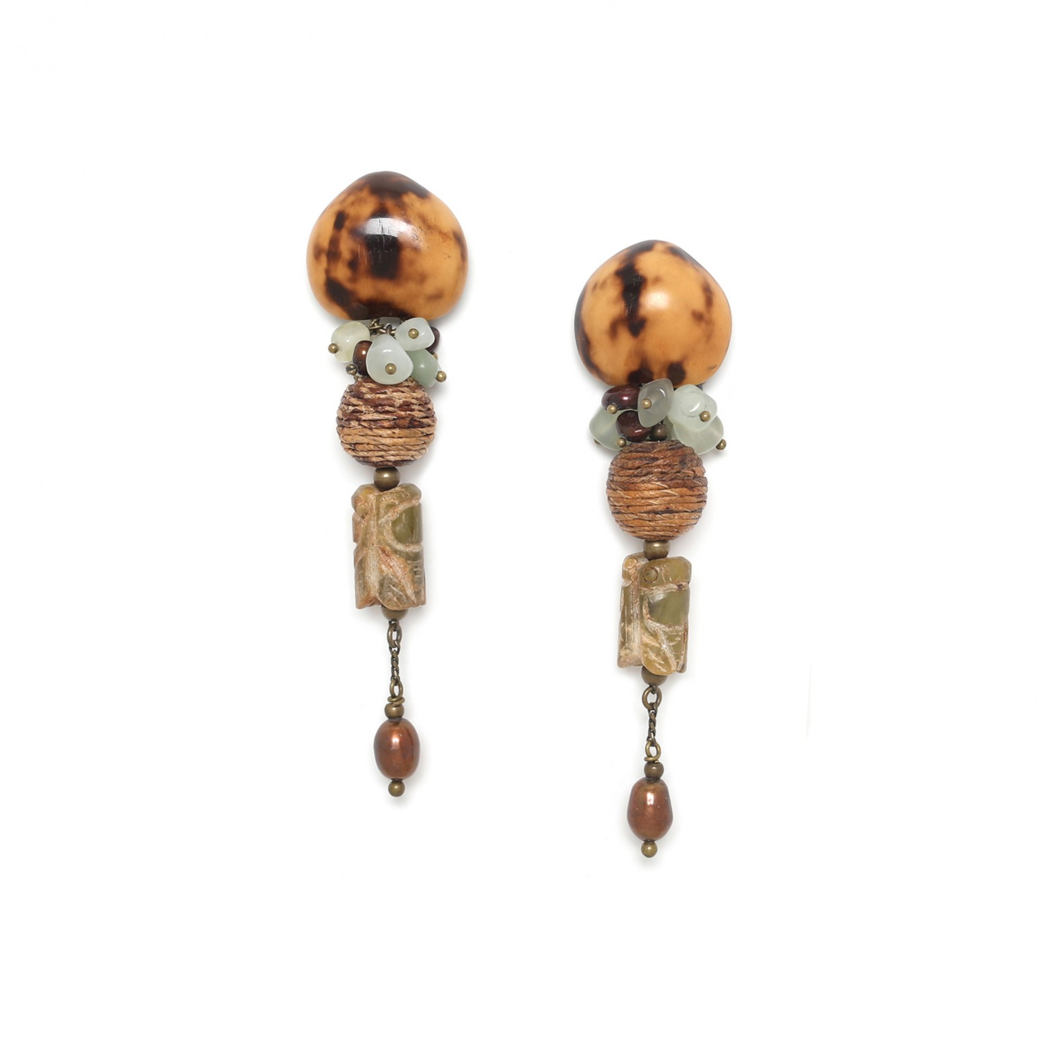 BURUNDI ciicada earrings