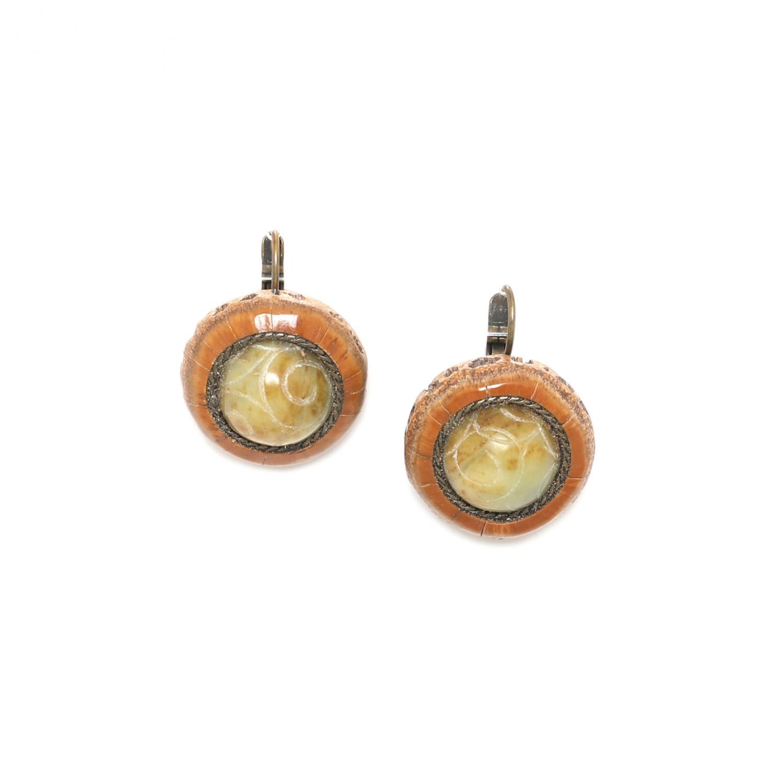 BURUNDI french hook earrings