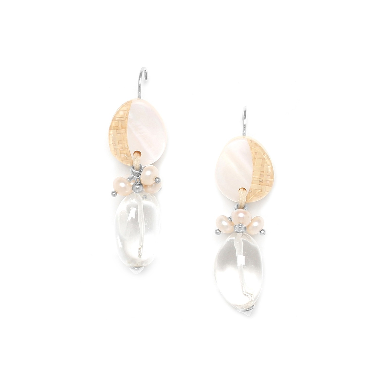 EL NIDO big rock crystal earrings