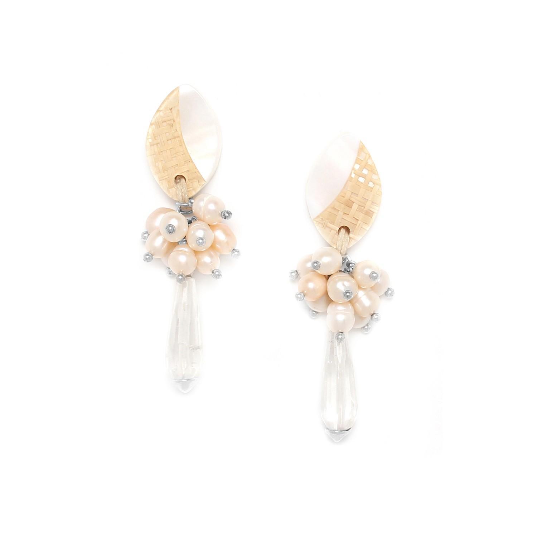 EL NIDO grape & drop earrings