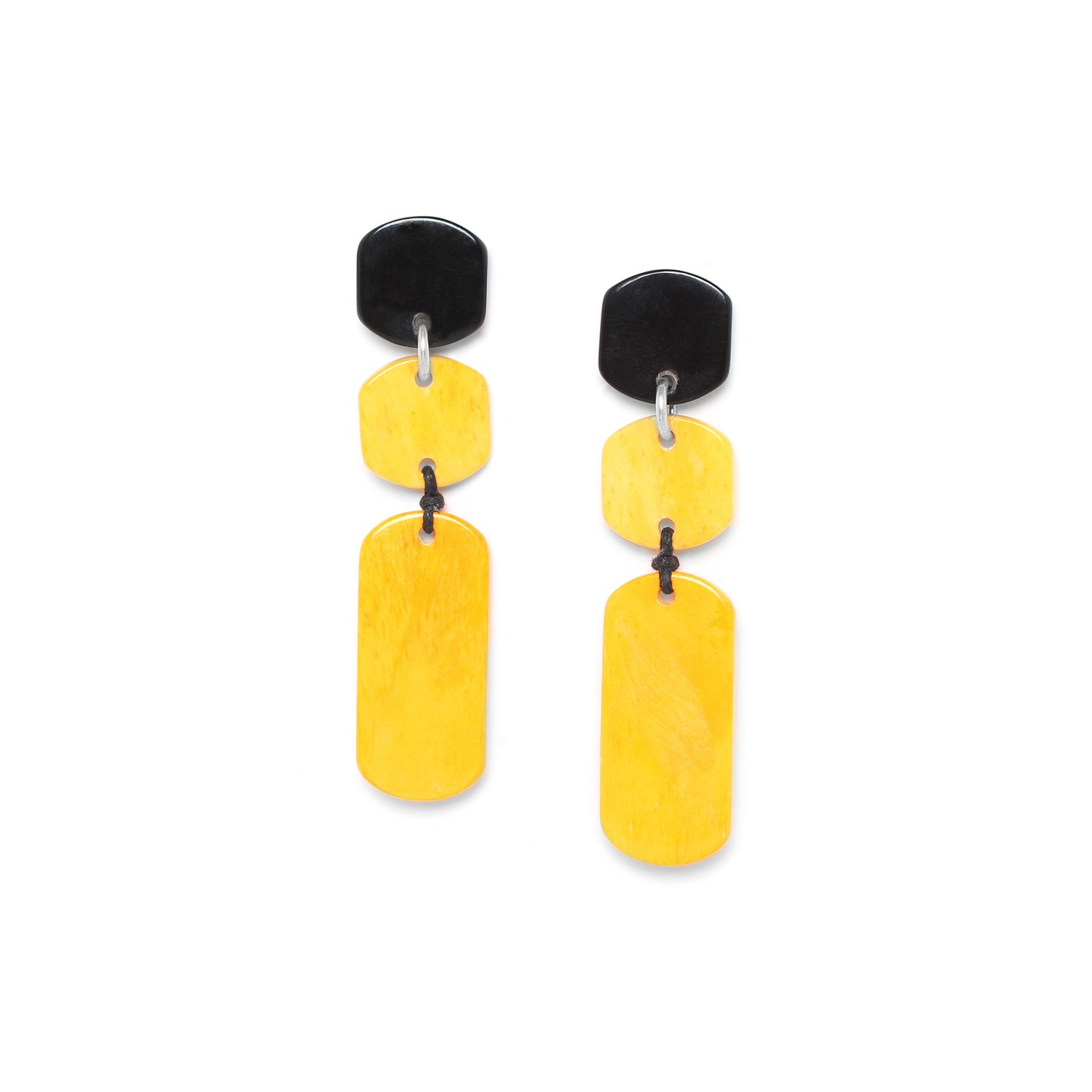 BLACK MANGO 3 elements earrings