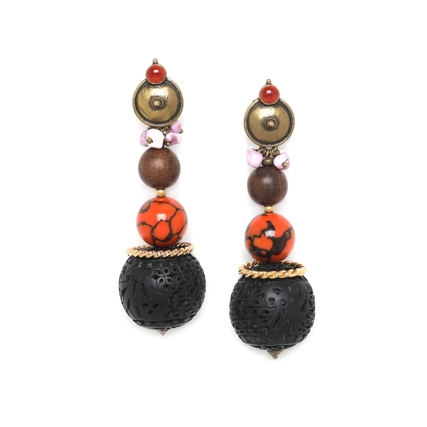 MELTING POT graduated beads big earrings